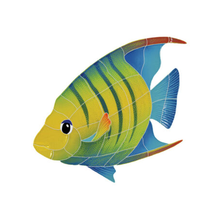 BANDED ANGEL FISH LEFT (AFBMCOLL) 12″X13″
