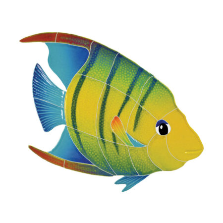 BANDED ANGEL FISH RIGHT (AFBMCORS) 9″X10″