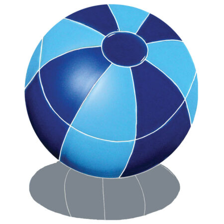BEACH BALL WITH SHADOW 9″ BLUE (BBSBLUS)