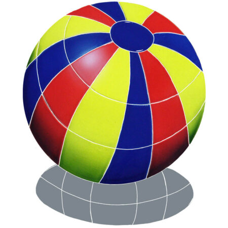 BEACH BALL WITH SHADOW 14″ MULTI COLOR (BBSMCOM)
