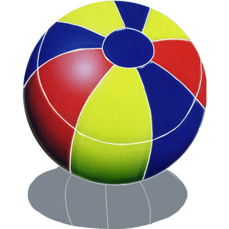 BEACH BALL WITH SHADOW 9″ MULTI COLOR (BBSMCOS)