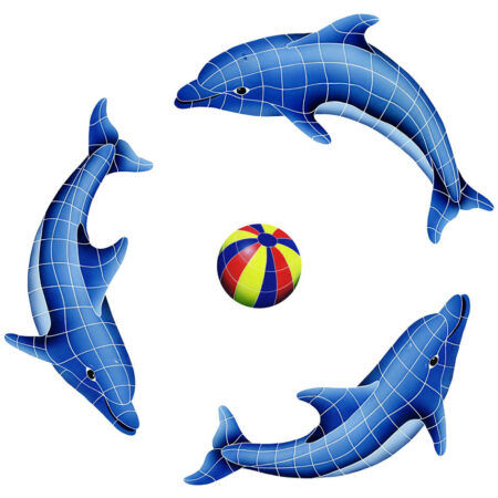 DOLPHIN GROUP (1 LEFT,2 RIGHT,1 FREE BALL) MULTI COLOR (DOLGRPM-MC)  67″ x 67″