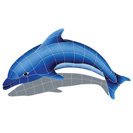 DOLPHIN WITH SHADOW LEFT 19″ x 30″
