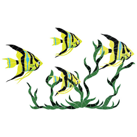 FISH GROUP IN SEAGRASS (FGSYELLM) 31″X50″