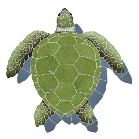 LOGGERHEAD TURTLE SHADOW GREEN 22″ x 20″ (TLSGREL)