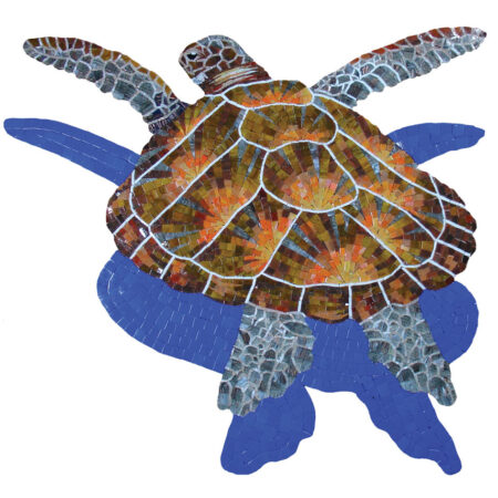Loggerhead Turtle Large with Shadow (G-LTSHL) 36″x38″