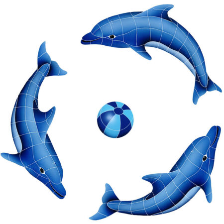 DOLPHIN GROUP (1 LEFT,2 RIGHT,1 FREE BALL) BLUE (DOLGRPS-BL) 42″ x 42″
