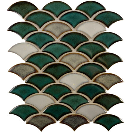 Mosaic Dragon Scale Aquos 9.75″ x 12″