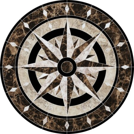 Compass Medallion 36″ Diameter