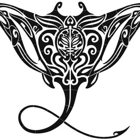 Tribal Manta Ray –  60″ x 47″