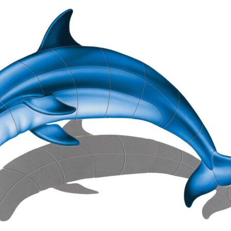 Bottlenose Dolphin-A (with shadow) 18″x12″