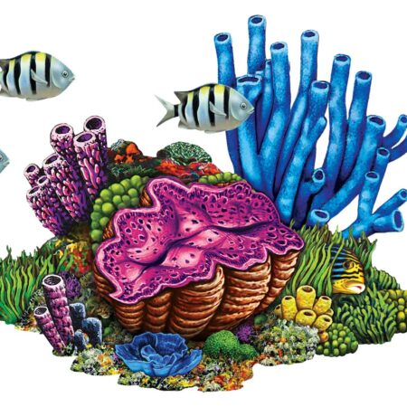 Coral Reef with Fish 27″ x 22″
