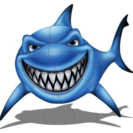 Gotcha Shark (with shadow) 37″x37″