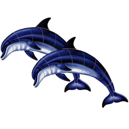 Double Bottlenose Dolphin-A  47″X33″ PORC-BD1D-36