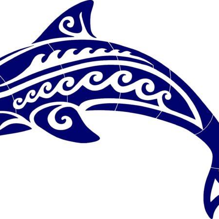 Tribal Dolphin –  36″ x 20″