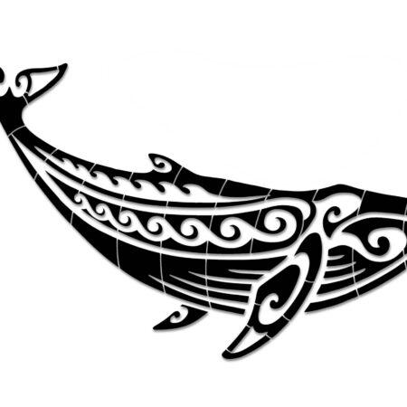 Tribal Humpback Whale 75″X30″