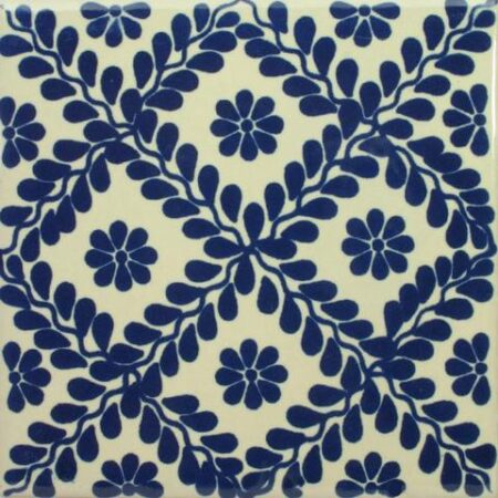 CERAMIC MEXICAN TILE – BLUE VINES
