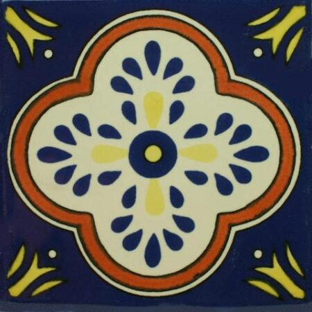 CERAMIC MEXICAN TILE – FLOR CRUZ