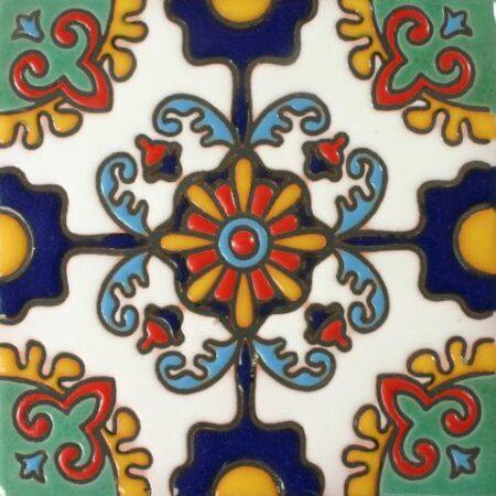CERAMIC MALIBU STYLE MEXICAN TILE – OTONO AZUL Y ORO