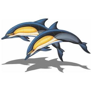Common Dolphin – A Double (with shadow) 57″x34″