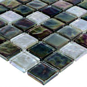 BLACK OIL GLASS TILE 1X1