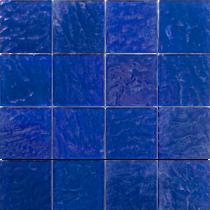 Cobalt  3×3 Textured Glass Mosaic