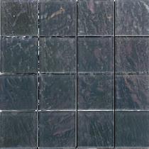 Grey  3×3 Textured Glass Mosaic  12×12 Sheet