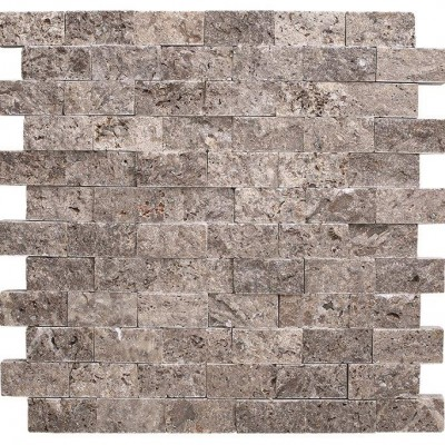 Silver Travertine Split Face 2×4