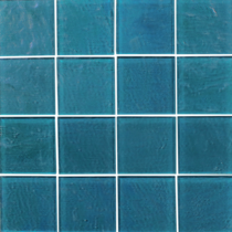 Turquoise  3×3 Textured Glass Mosaic  12×12 Sheet