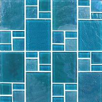 Turquoise*  Random Glass Mosaic 11.75×11.75 Sheet