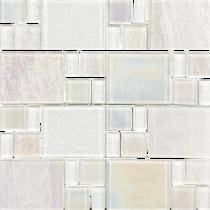 White*  Random Glass Mosaic 11.75×11.75 Sheet