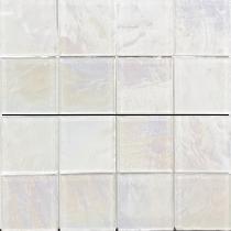 White  3×3 Textured Glass Mosaic  12×12 Sheet
