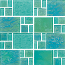 Green*  Random Glass Mosaic 11.75×11.75 Sheet
