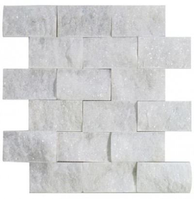 Carrara Marble Split Face 2×4