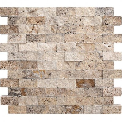 Scabos Travertine Split Face 2×4