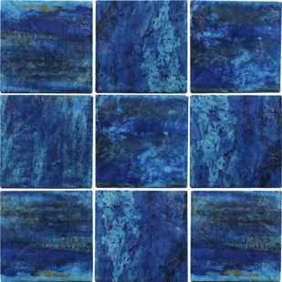 Blu Porcelain Tile  6×6  (Range Shown)