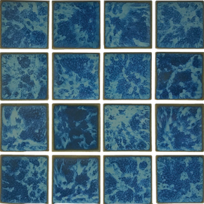 Gulf Blue 3×3 Mosaic 12×12 Sheet