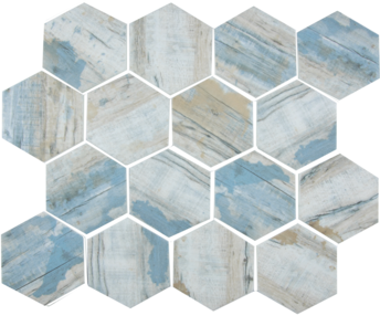 Bay  Hexagonal Mosaic  11.75×10.25 Sheet (1.20 Pcs per SF)