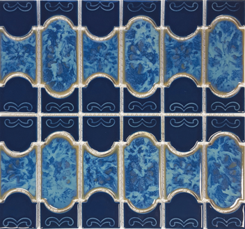 Caribbean Blue Porcelain Mosaic 12.5×12.5 Sheet