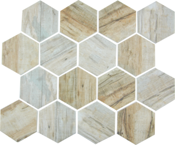 Cinnamon  Hex Mosaic  11.75×10.25 Sheet (1.20 Pcs per SF)