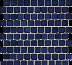 Cobalt Blue Porcelain 1×1 Mosaic 12×12 Sheet