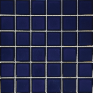 Cobalt Blue​ Porcelain 2×2 Mosaic 12×12 Sheet