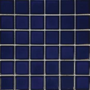 Cobalt Blue Porcelain 2×2 Mosaic 12×12 Sheet