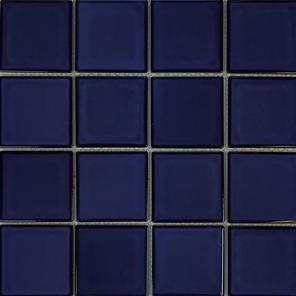 Cobalt Blue  3×3 Porcelain Mosaic 12×12 Sheet