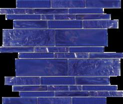 Cobaltstone  Random Linear Glass Mosaic