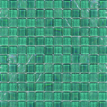 Aquatica Greenstone  1×1 Glass Mosaic