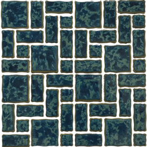 Gulf Blue​  Random Pattern Porcelain12x12 Sheet