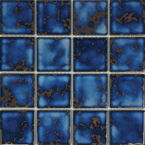 Terra BluePorcelain 3×3 Mosaic 12×12 Sheet