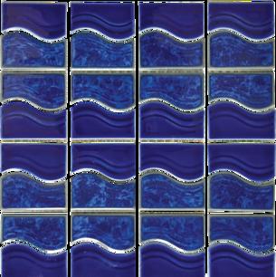 Lake Blue Porcelain Mosaic 12×12 Sheet