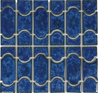 Lake Blue Porcelain Mosaic 12.5×12.5 Sheet